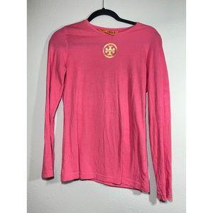Tory Burch Logo Long Sleeve Shirt